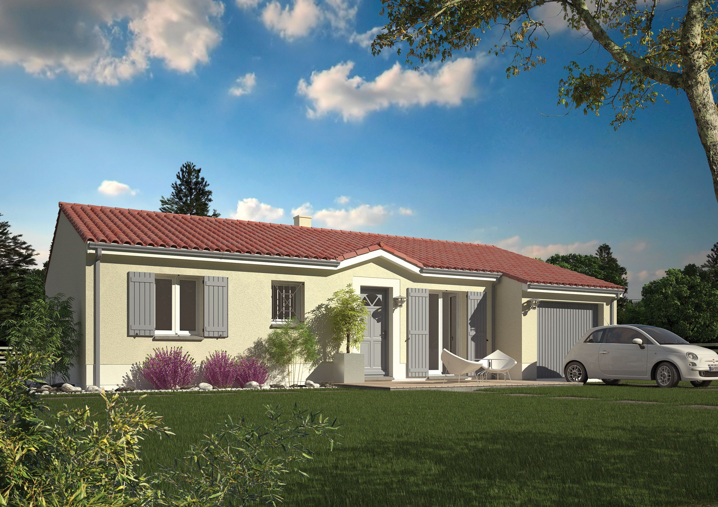 Plan de maison chantal b for Maisons chantal b